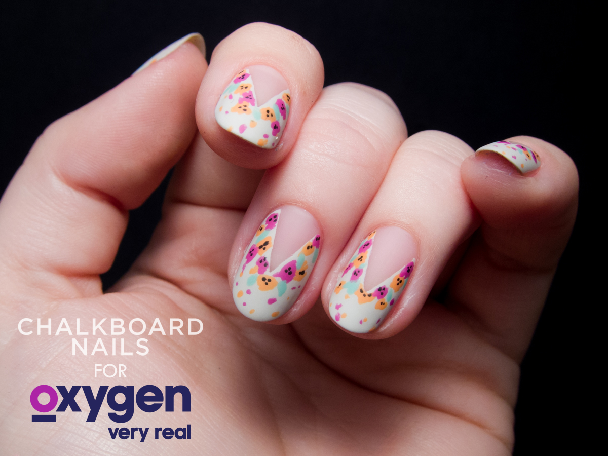 TUTORIAL: Easy Splattered Floral Nail Art, Inspired by Nail\'d It ...