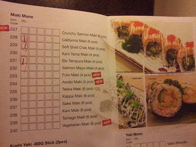 Maiu Japanese Restaurant Buffet Menu