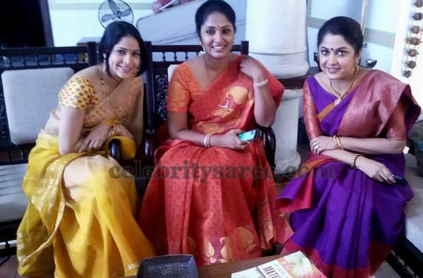 Jhansi Ramyakrishna Lavanya in Saris