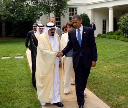 Saudi King Abdullah and President Obama
