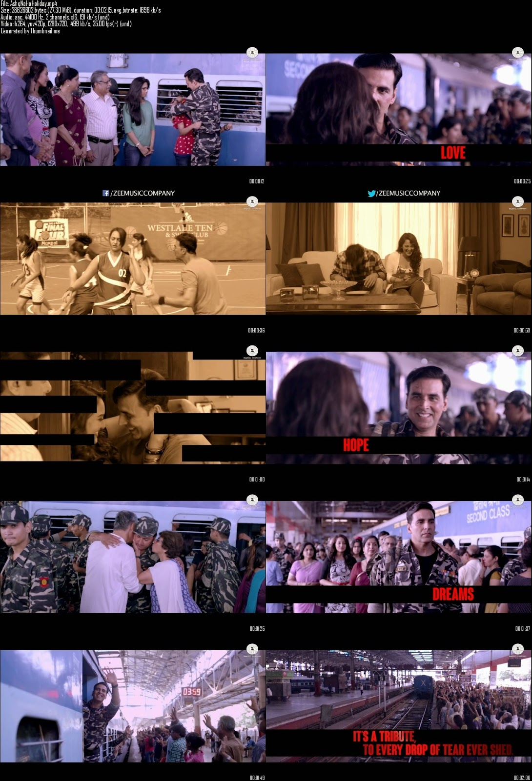 Mediafire Resumable Download Link For Video Song Ahsq Na Ho - Holiday (2014)