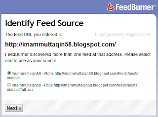 membuat feedburner di blog