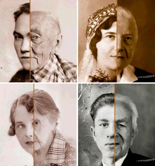 El envejecimiento de las personas visto en unos segundos
