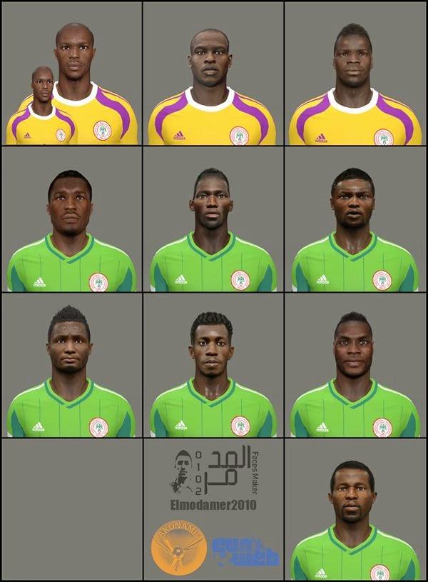 PES 2014 Nigeria Facepack by elmodamer