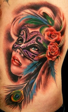Carnival Mask Tattoo