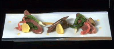 Ken's duck breast dish with mountain ingredients is something never seen before.