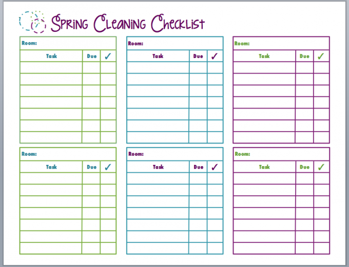 Spring Cleaning Schedule Room by Room :: OrganizingMadeFun.com