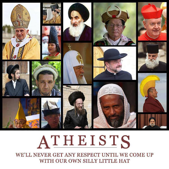 Funny Atheism Funny Hats Meme Picture