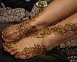 Mehndi For Foot : Latest mehndi designs: beautiful feet designs