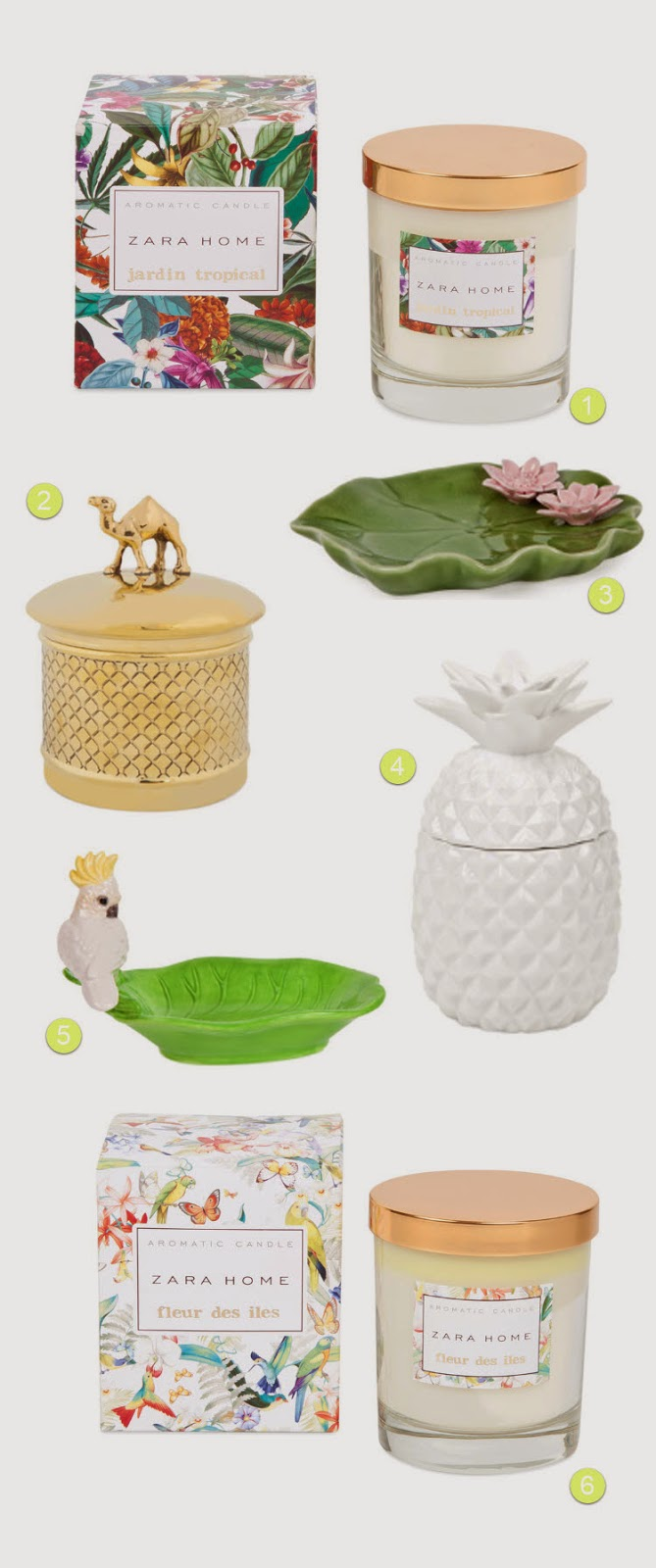 Tropical bathroom accessories