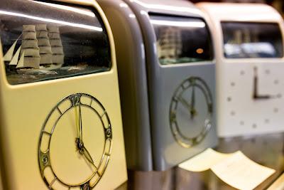 Three vitascope rocking ship clocks