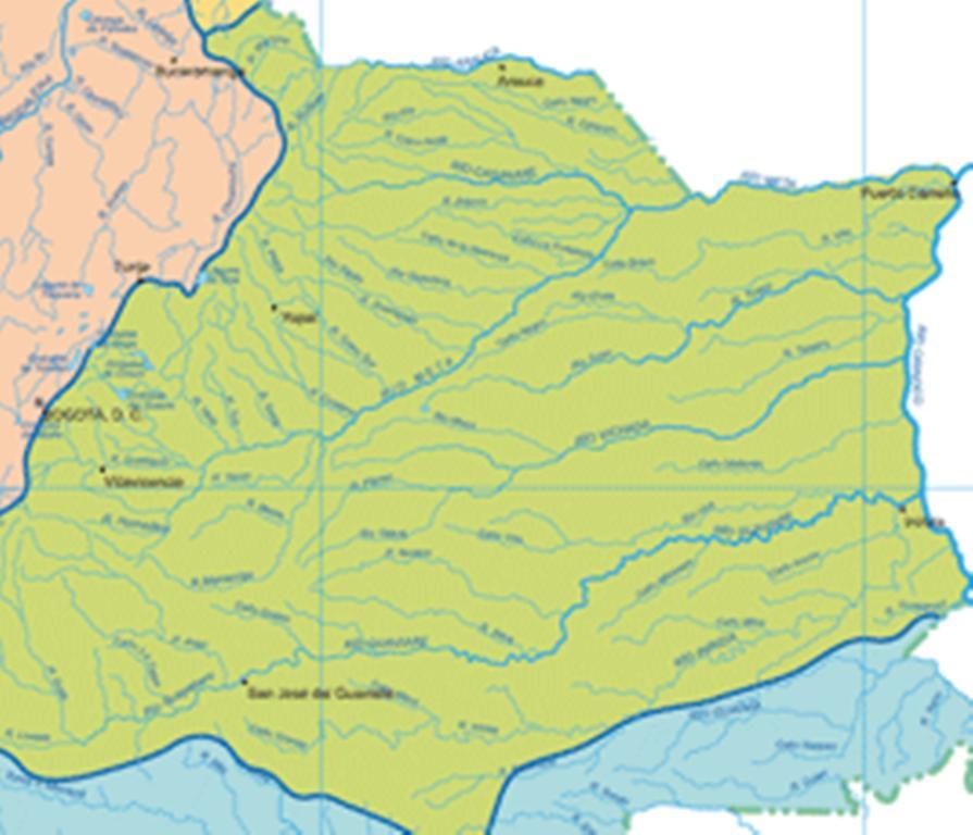 Colombia vertiente del orinoco la vertiente hidrogrfica de la orinoqua incluye grandes ros como el ro orinoco el guaviare el meta el inrida y otros ms pequeos como el tomo y el thecheapjerseys Choice Image