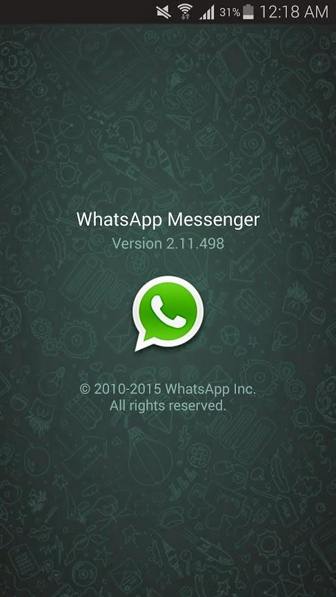 إصدار رقم 2.11.498 من تطبيق واتساب