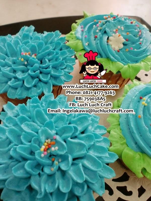 cupcake valentine bunga daerah surabay - sidoarjo