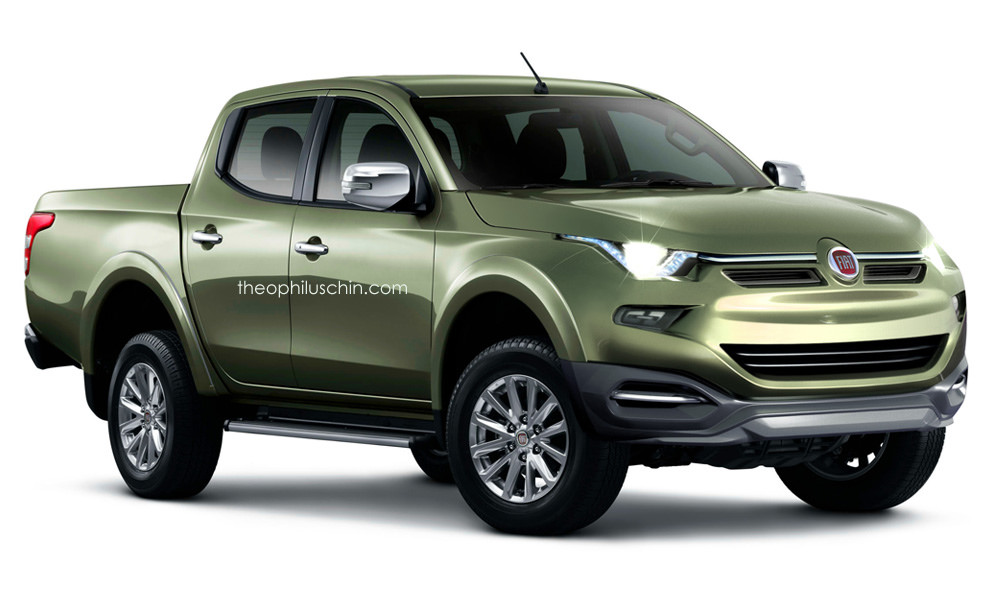 fiat 39 s re badged 2015 mitsubishi l200 truck conceptualized carscoops. Black Bedroom Furniture Sets. Home Design Ideas