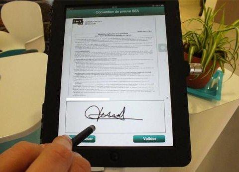 Signature sur iPad
