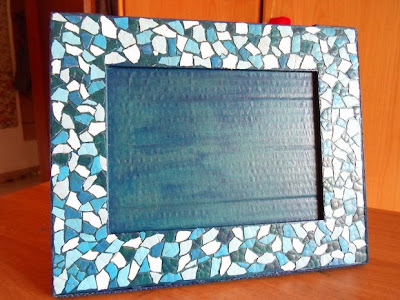 eggshell mosaic frame, a handmade gift