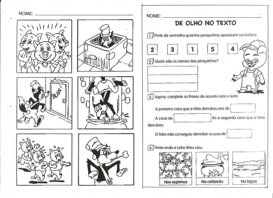 OS TR  S PORQUINHOS 60 ATIVIDADES CONTOS DE FADAS HIST  RIAS INFANTIS