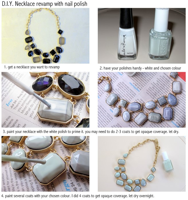 DIY - Revamp An Old Necklace With Nail Polish