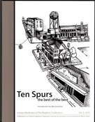 Book cover for Ten Spurs: the Best of the Best UNT Mayborn School of Journalism