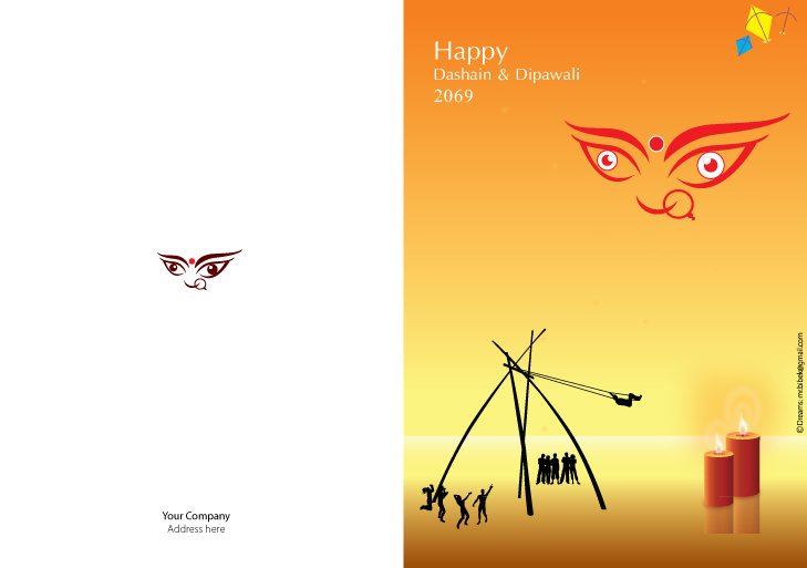 Bibek dashain dipawali tihar greetings card you can personalize any of our cards to be any type of card youd like m4hsunfo