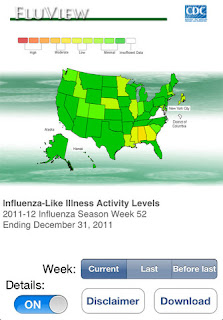 Flu View Medical App for the iPhone
