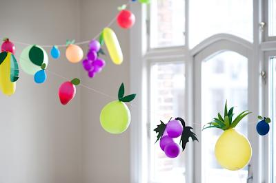 Fruit+balloon+garland