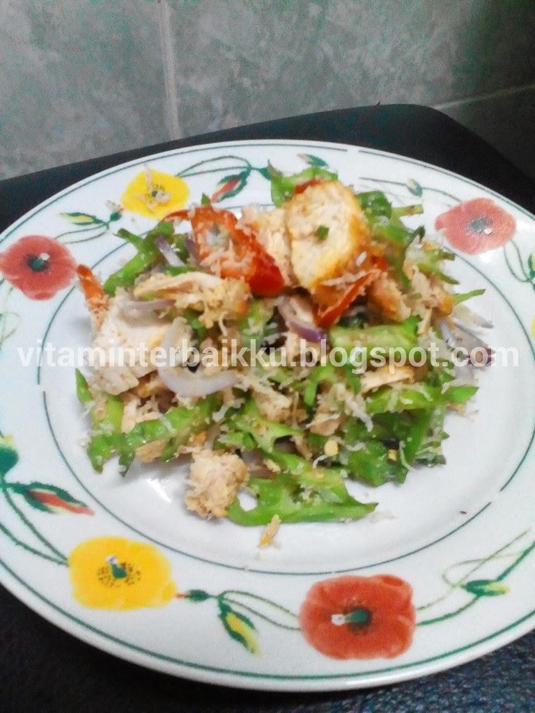Resepi Kerabu Kacang Botol Bersama Isi Ayam