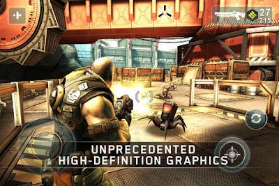 Shadowgun para Android e iPhone, juego de acción HD