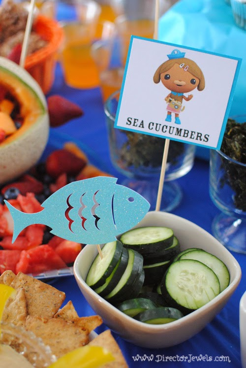 Octonauts Birthday Party Food Ideas | Dashi's Sea Cucumbers | Under the Sea Party at directorjewels.com