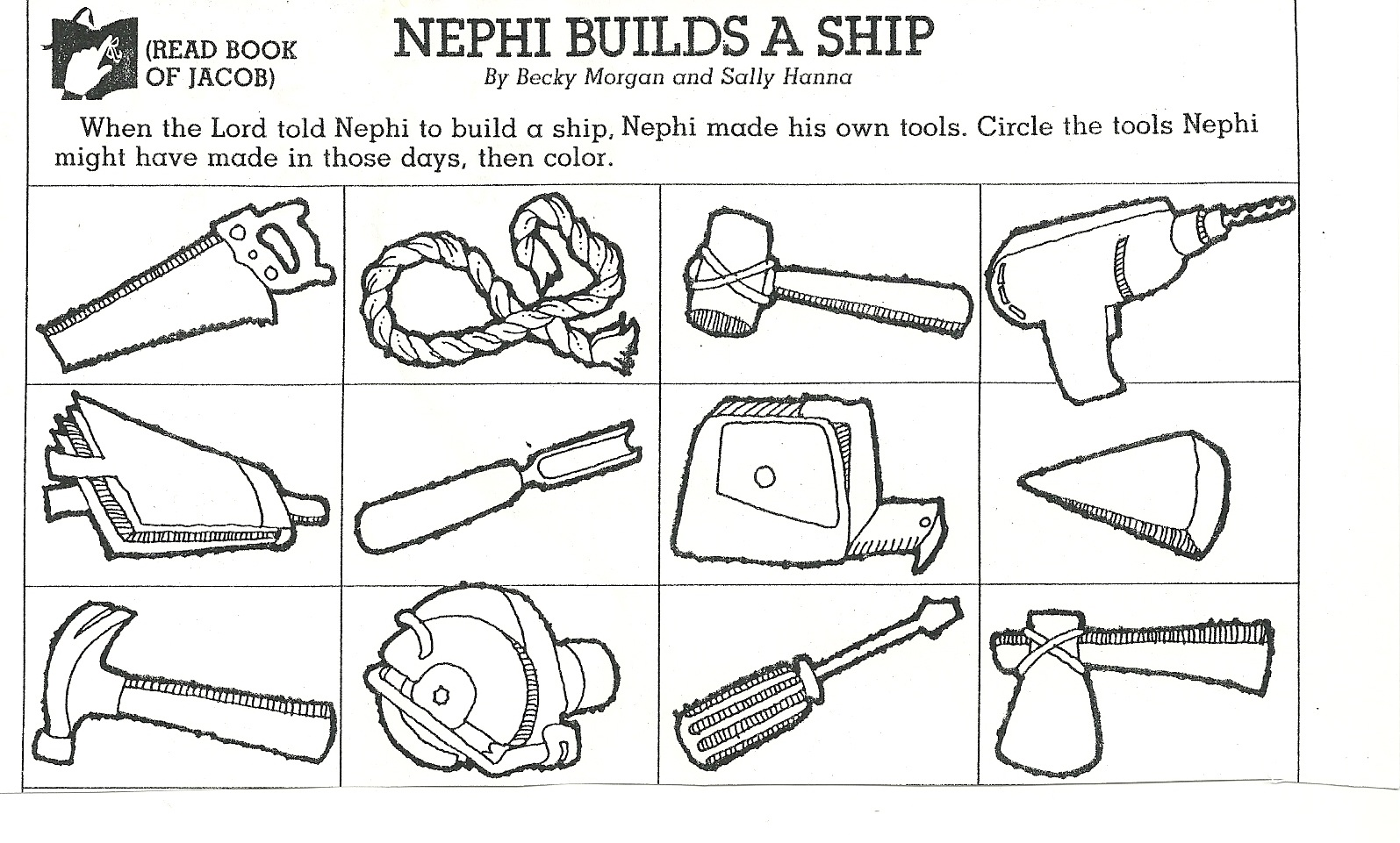 nephi coloring pages - photo#36