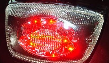 Cara Mudah Pasang Taillamp LED di Vespa LX150ie