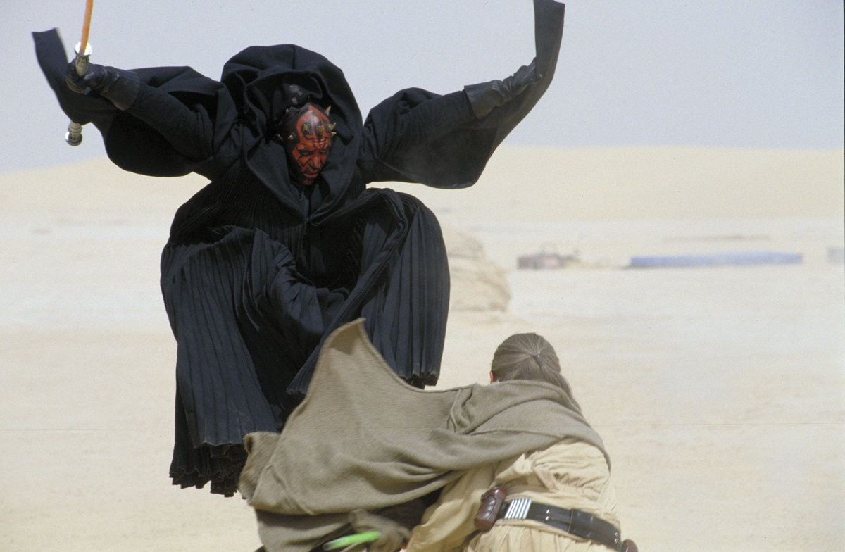 Star wars the phantom menace newly revealed set photos of obi wan