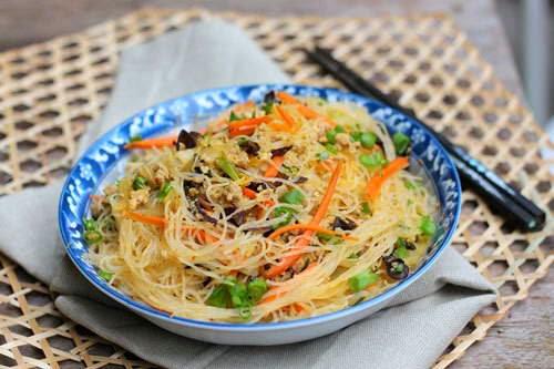 Vietnamese Noodle Recipes - Miến Xào Thịt Băm