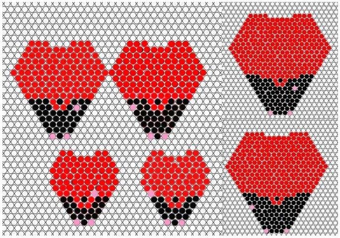 Розы мозаичным плетением из бисера
