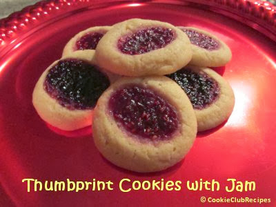 Christmas Thumbprint Cookie Recipe by CookieClubRecipes