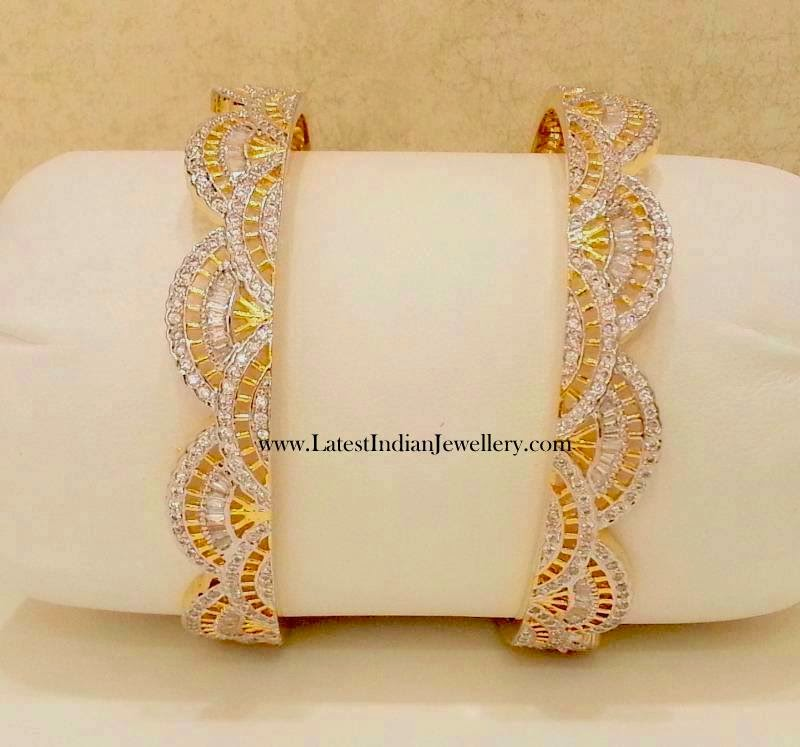 Diamond Bangles Pair