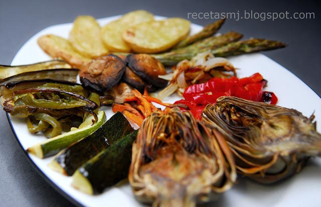 Verdures al forn verduras al horno las recetas de mj - Verduras rellenas al horno ...