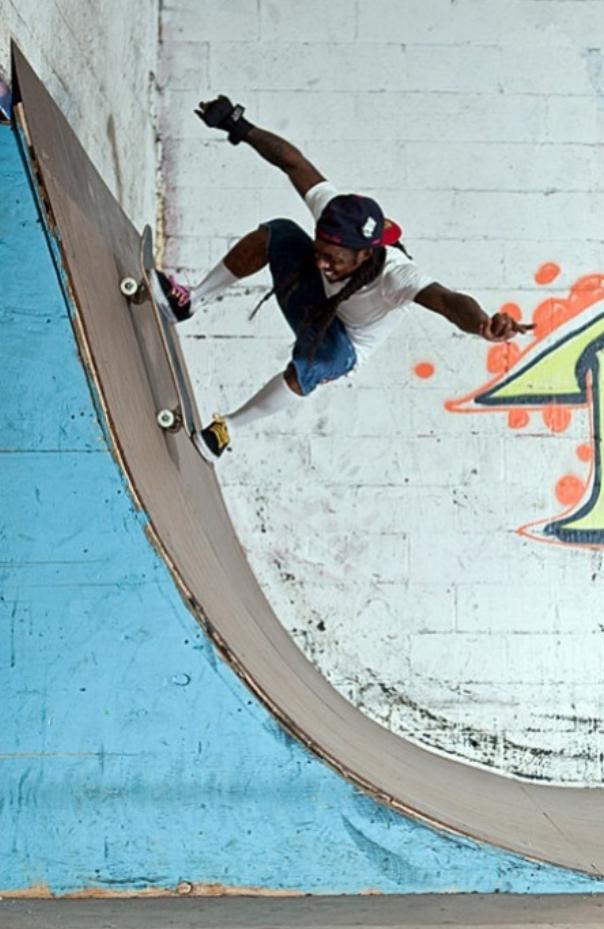 Foto do Lil Wayne andando de Skate