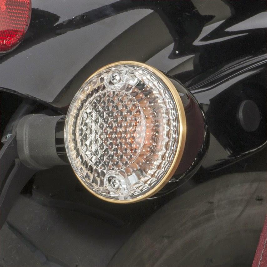 Yamaha Star Bolt Brass Turn Signal Bezel
