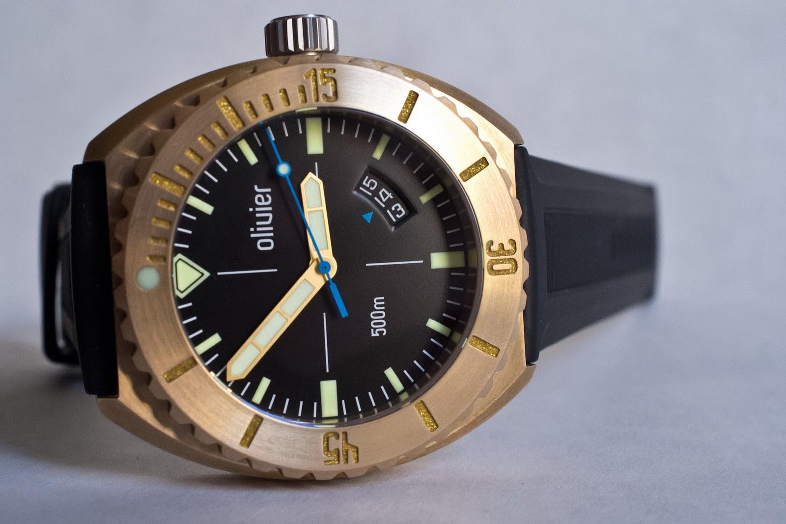 Olivier bronze diver - Bronze dive watch ...