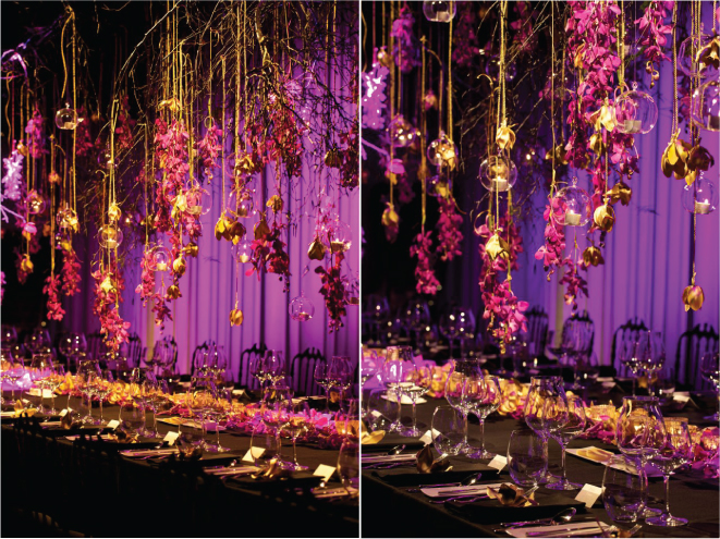 Suspended Wedding Centerpieces + Floral Chandeliers - Belle the ...