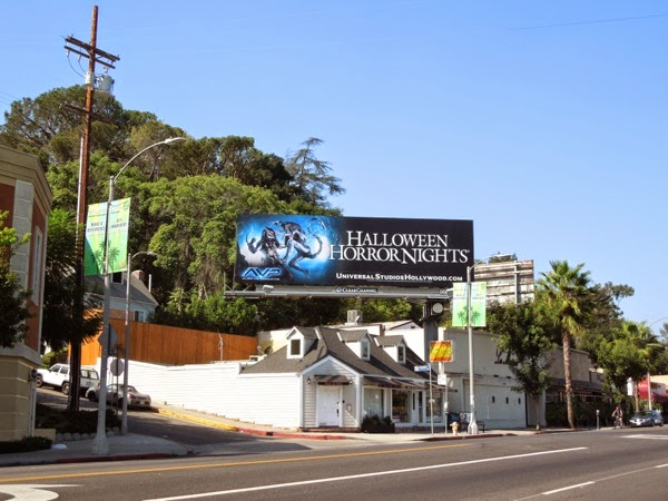 AVP Halloween Horror Nights Universal Studios billboard