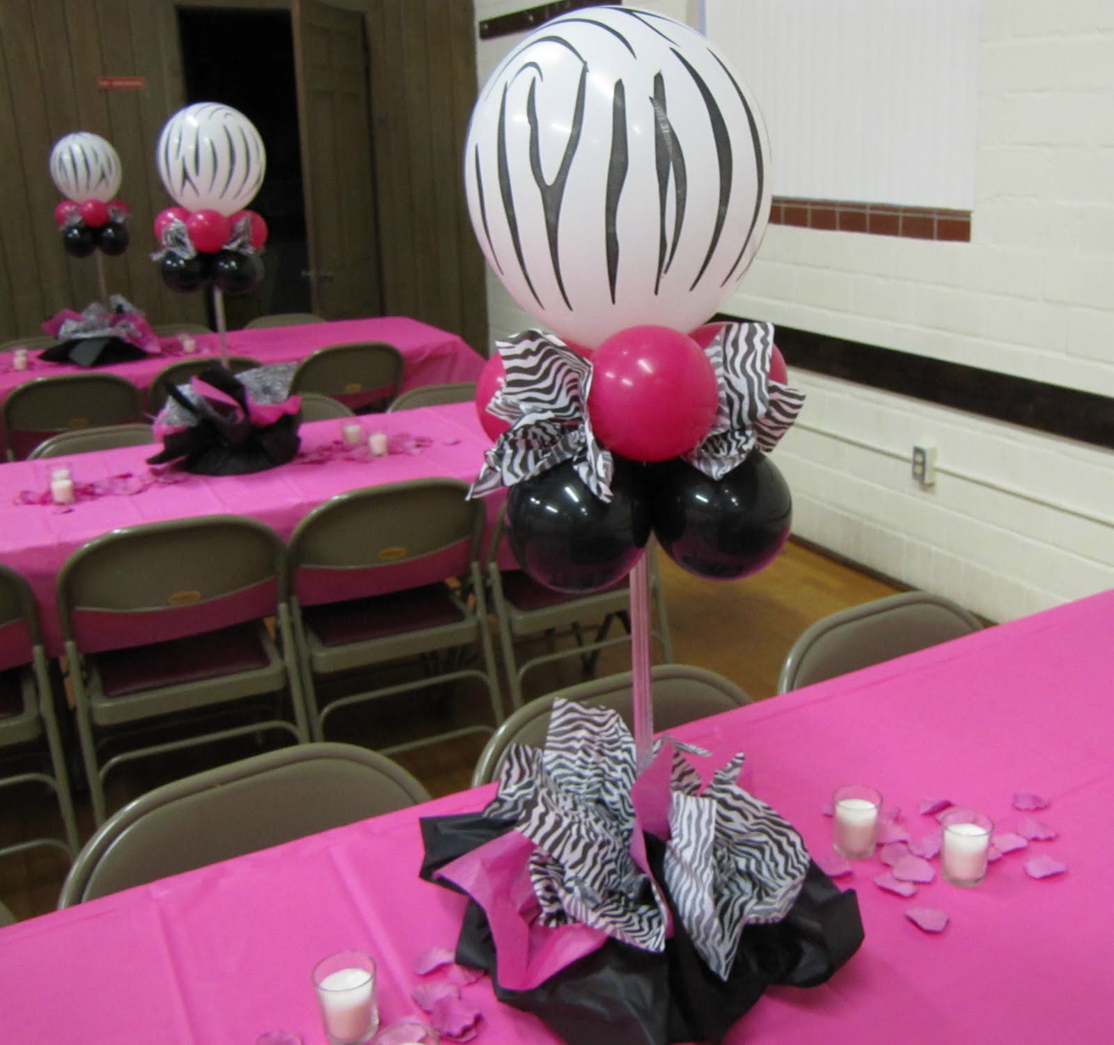 Party people event decorating company wild about you Table decoration ideas for parties