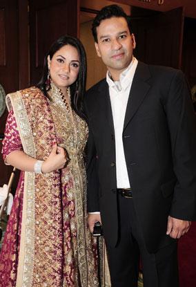 Nadia Khan with his husband | CelebritiesCouples