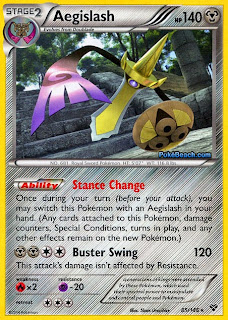 Aegislash Pokemon X and Y Card