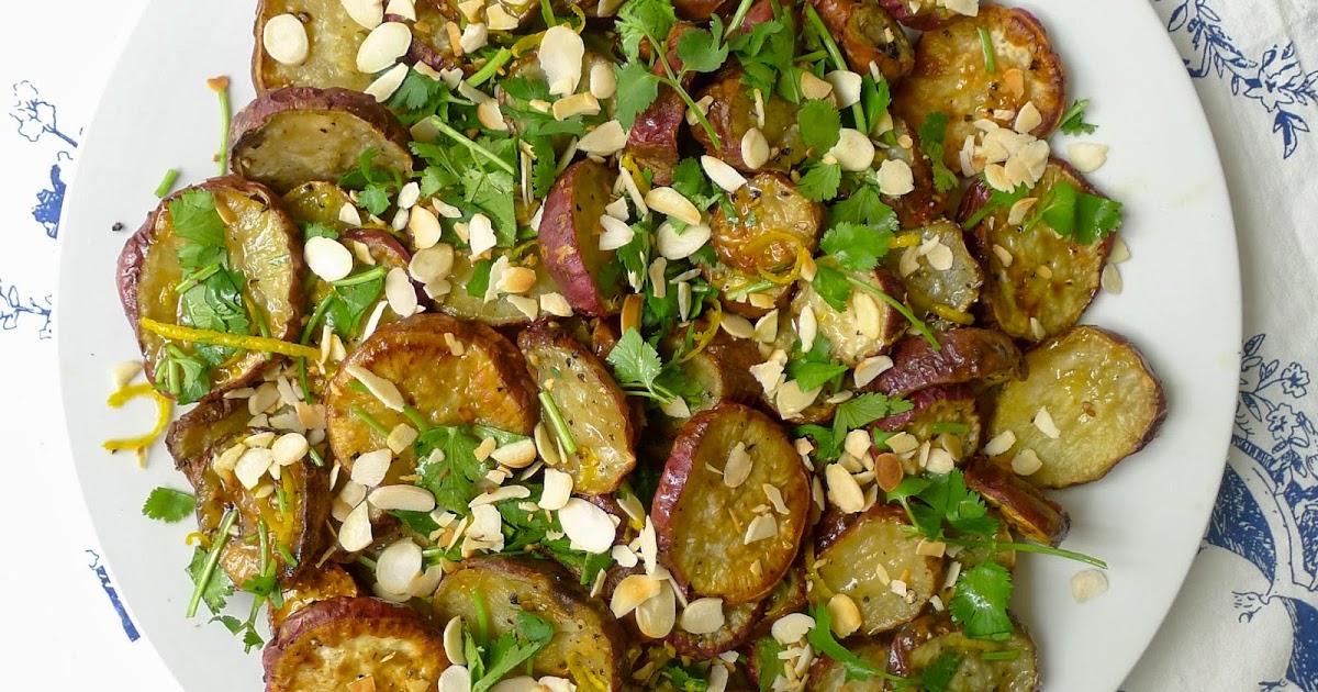 Sweet potato, orange and almond salad