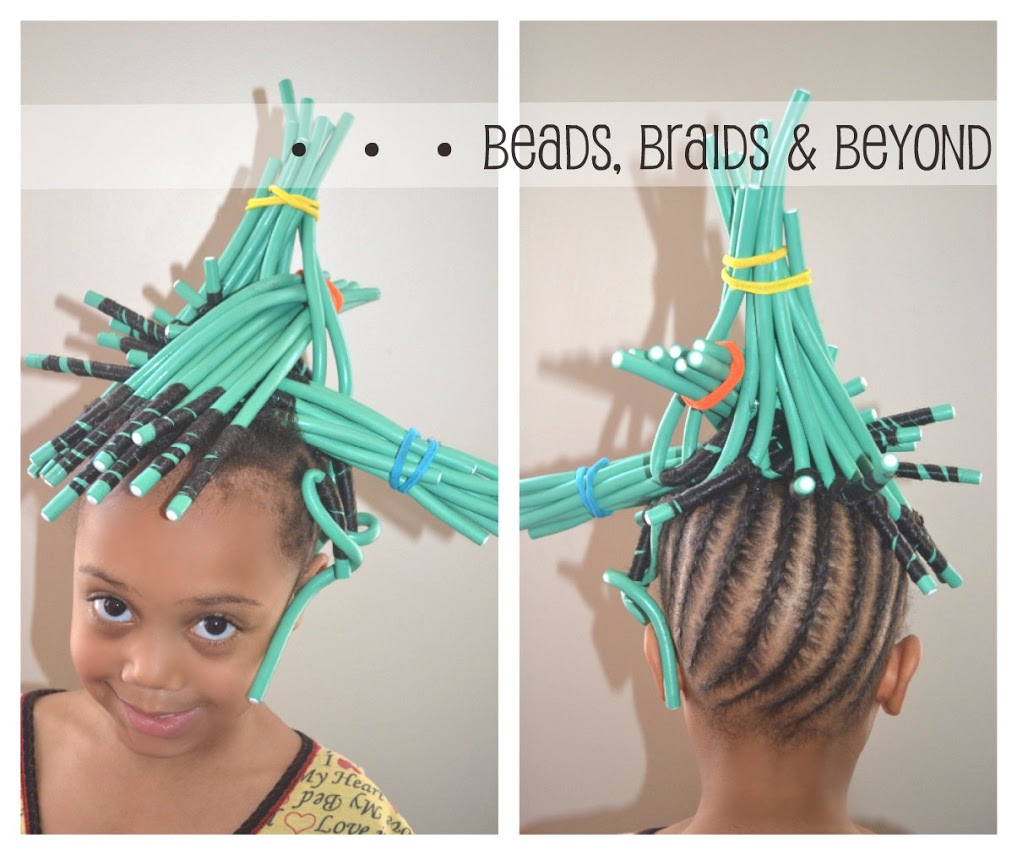 Beads Braids And Beyond Little Girls Natural Hairstyle Flexi