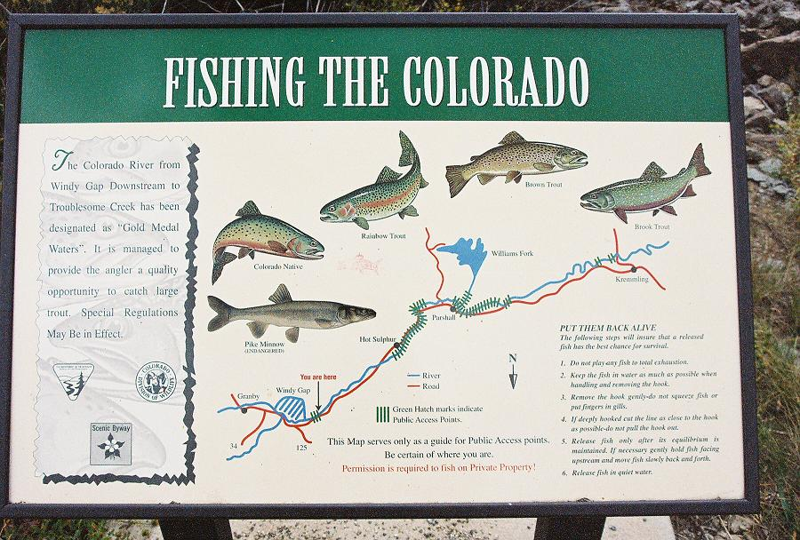 Fly fishing with brent cannon colorado river granby co for Colorado fishing map