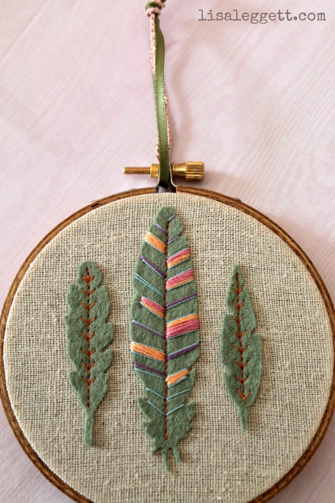 Embroidered Feather's by Lisa Leggett